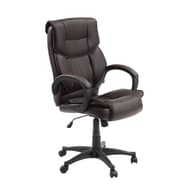 Innovex Primus High-Back Leather Executive Office Chair; Brown
