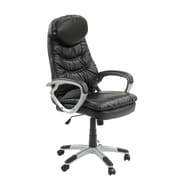 Innovex Imperium High-Back Leather Executive Office Chair; Black