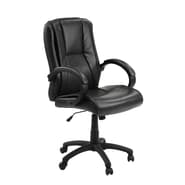 Innovex Sella High-Back Leather Executive Office Chair; Black