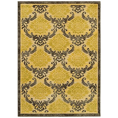 LR Resources Antigua Gold/Brown Area Rug; 9'2'' x 12'6''