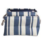 TAG Hudson Stripe Rectangular Crunch Bags (Set of 2); Blue / White