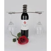 Metrotex Designs Wine Bottle 2 Stem Glass Holder