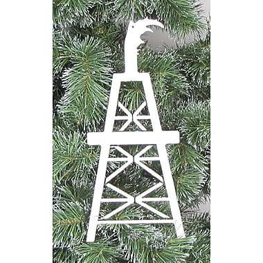 Metrotex Designs Oil Derrick Ornament; Nickel Metalic Fleck
