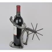 Metrotex Designs Horseshoe and Spur 1 Bottle Tabletop Wine Rack