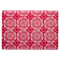 TAG Beach Dahlia Placemat (Set of 12); Red