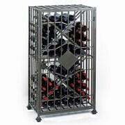Wine Enthusiast Companies Soho Table Top 64 Bottle Wine Jail