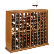 Wine Enthusiast Companies N'finity 100 Bottle Floor Wine Rack; Natural