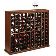 Wine Enthusiast Companies N'finity 100 Bottle Floor Wine Rack; Dark Walnut