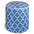 Fab Rugs World Tangier Ottoman; Regatta Blue/White