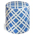 Fab Rugs World Dublin Pouf; Blue
