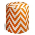 Fab Rugs World Laguna Pouf; Orange Peel/White