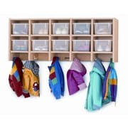 Jonti-Craft 10-Section Wall Mount Coat Locker; With