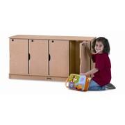 Jonti-Craft 4-Section Stacking Lockable Lockers; Single Stack
