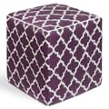 Fab Rugs World Tangier Cube Ottoman; Plum/White