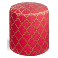 Fab Rugs World Tangier Pouf; Pinkberry/Bronze