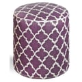 Fab Rugs World Tangier Pouf; Plum/White