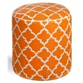 Fab Rugs World Tangier Pouf; Carrot/White