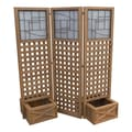 Yardistry Faux Glass Privacy Screen with Planter Boxes