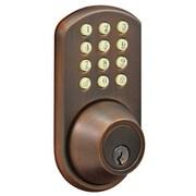Milocks Electronic Keyless Entry Door Lock; Oil Rubbed Bronze