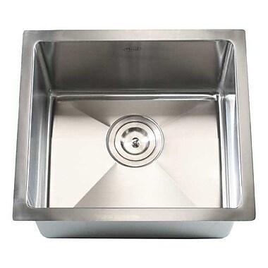 eModern Decor Ariel 17'' x 15'' Single Bowl Undermount Kitchen Sink
