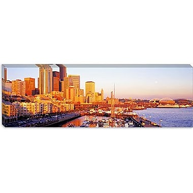iCanvas Panoramic Seattle, Washington Photographic Print on Canvas; 16'' H x 48'' W x 0.75'' D