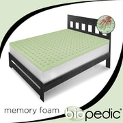 BioPEDIC Classic Ventilated Memory Foam Mattress Topper; Queen