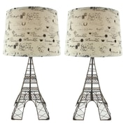 Aspire Eiffel Tower 28'' H Table Lamp with Empire Shade (Set of 2)