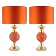 Aspire Katelyn 24'' H Table Lamp with Drum Shade (Set of 2)