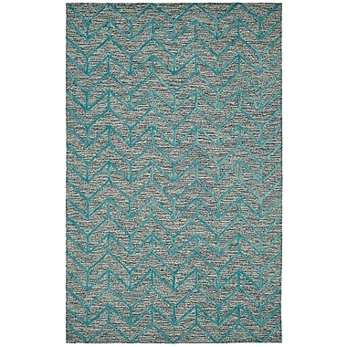 Dynamic Rugs Broadway Chervon Aqua Area Rug; 3'6'' x 5'6''