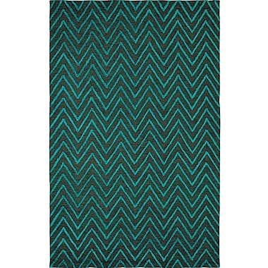 Dynamic Rugs Broadway Jade Chervon Area Rug; 5' x 8'