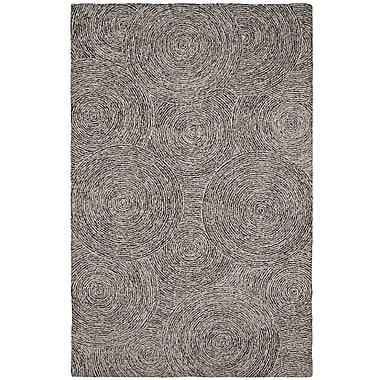 Dynamic Rugs Polar Ivory/Black Geometric Area Rug; 8' x 11'