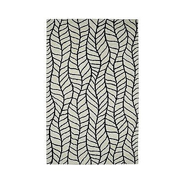 Dynamic Rugs Palace Black/White Area Rug; 8' x 11'