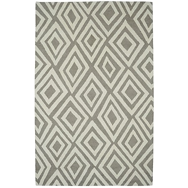 Dynamic Rugs Palace Silver/Ivory Area Rug; 4' x 6'