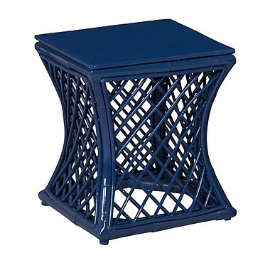 Article 24 Lattice Stool; Tangerine