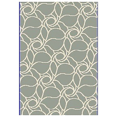Dynamic Rugs Passion Green Rug; 6'7'' x 9'6''