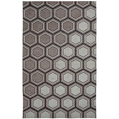 Dynamic Rugs Element Grey/White Geometric Area Rug; 5' x 8'