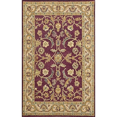 Dynamic Rugs Sapphire Burgundy / Ivory Oriental Area Rug; 3'6'' x 5'6''