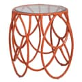 Article 24 Loops End Table; Tangerine