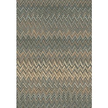 Dynamic Rugs Opus Grey/Beige Chervon Area Rug; 2' x 3'6''