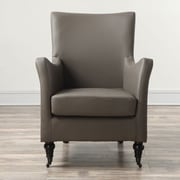 TOV Carlyle Leather Chair; Desert Grey