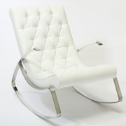 Home Loft Concept Gregory Tufted Rocking Chair; White