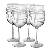 Rolf Glass Palm Tree All Purpose Wine Glass (Set of 4)