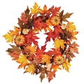 Oddity Inc. Maple Leaf Pumpkin Berry Wreath