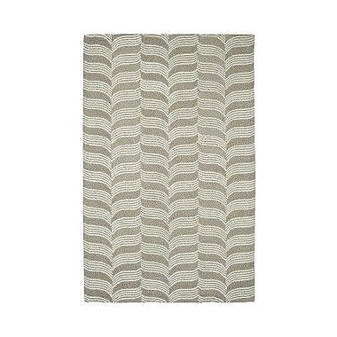 Dynamic Rugs Palace Silver / Ivory Rug; 2' x 4'