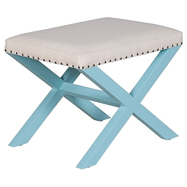 Article 24 Hanover Stool; Sky Blue