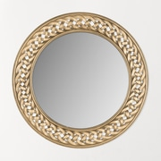 Safavieh Braided Chain Wall Mirror; Gold