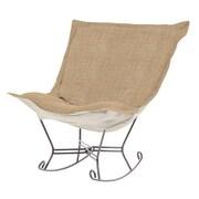 Howard Elliott Puff Scroll Coco Rocking Chair; Stone