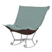 Howard Elliott Puff Scroll Sterling Rocking Chair; Breeze