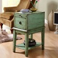 Coast to Coast Imports One Drawer Cabinet; Green