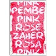 iCanvas Pink T-Shirt Canvas Print Wall Art; 40'' H x 26'' W x 1.5'' D